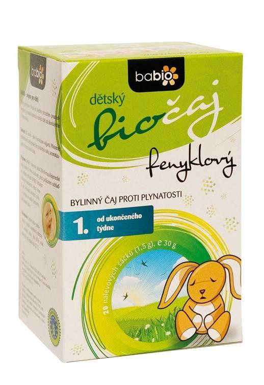 BABIO Dětský fenyklový čaj 20 nálevových sáčků 1.5 g BIO