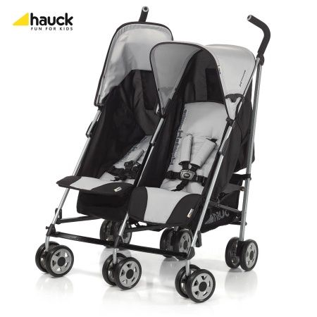Kočárek pro dvojčata Turbo Duo Hauck Grey