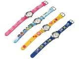 Dětské náramkové hodinky kytičky - žluté