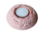 Keramický svícen na čajovou svíčku terakota