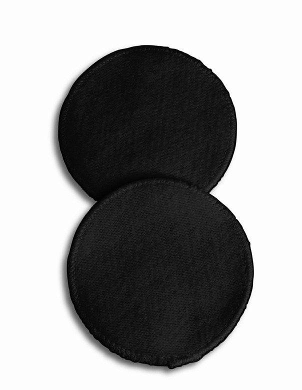 Prací vložky do podprsenky 6ks bavlněné černé UNI Carriwell