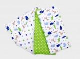 T-Tomi Látkové pleny, sada 4 kusů, zelení krokodýli