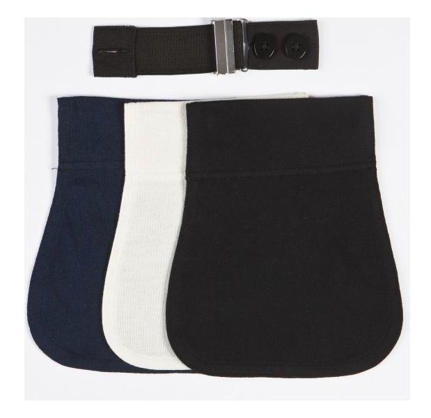 Těhotenský externí flexi- nastavitelný pás - černá, modrá, smetanová UNI Carriwell