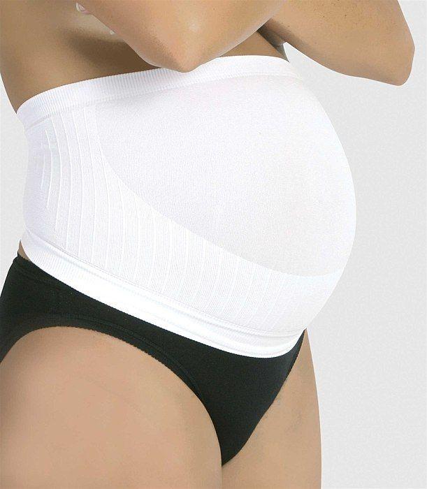 Těhotenský podpůrný pás bílý M Carriwell