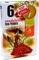 Vonné čajové svíčky 6ks - sandalwood - sandalové dřevo