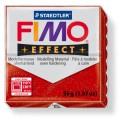 FIMO Effect 56g blok - červená se třpytkami- třpytivá (efekt)