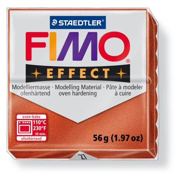 FIMO Effect 56g blok - měděná- měď (efekt) Staedtler