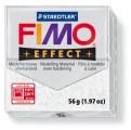 FIMO Effect 56g blok - metalická bílá se třpytkami- třpytivá (efekt)