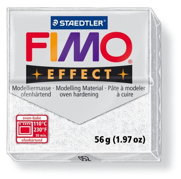 FIMO Effect 56g blok - metalická bílá- třpytivá (efekt) Staedtler