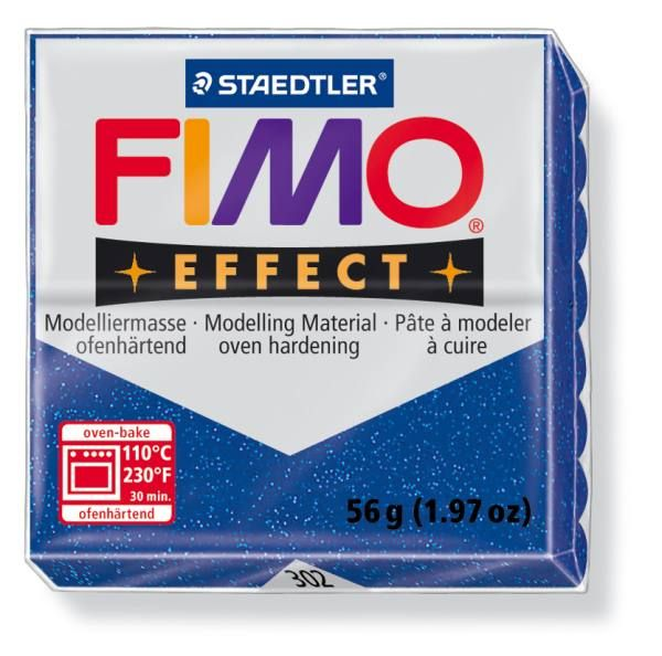 FIMO Effect 56g blok - modrá- třpytivá (efekt) Staedtler