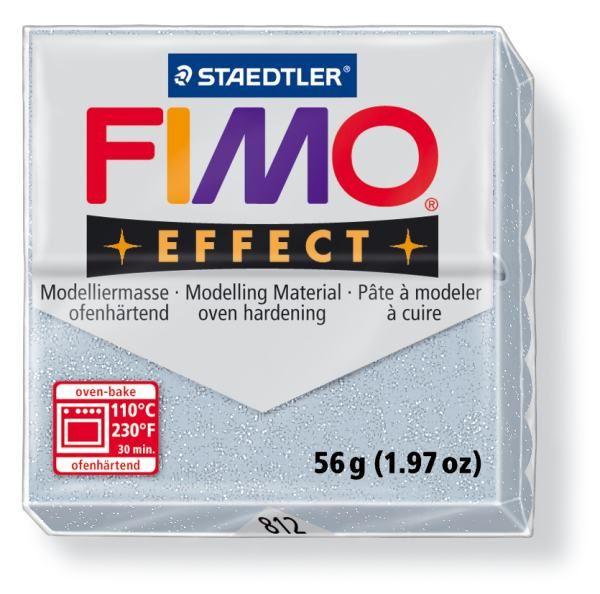 FIMO Effect 56g blok - stříbrná- třpytivá (efekt) Staedtler