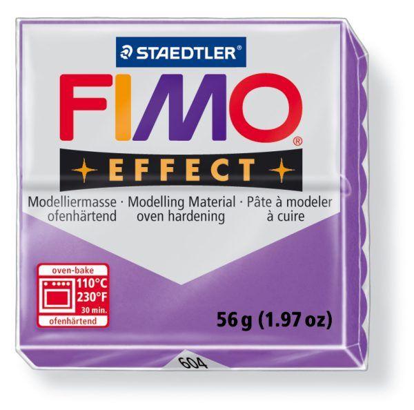 FIMO Effect 56g blok - transparentní fialová- lila (efekt) Staedtler