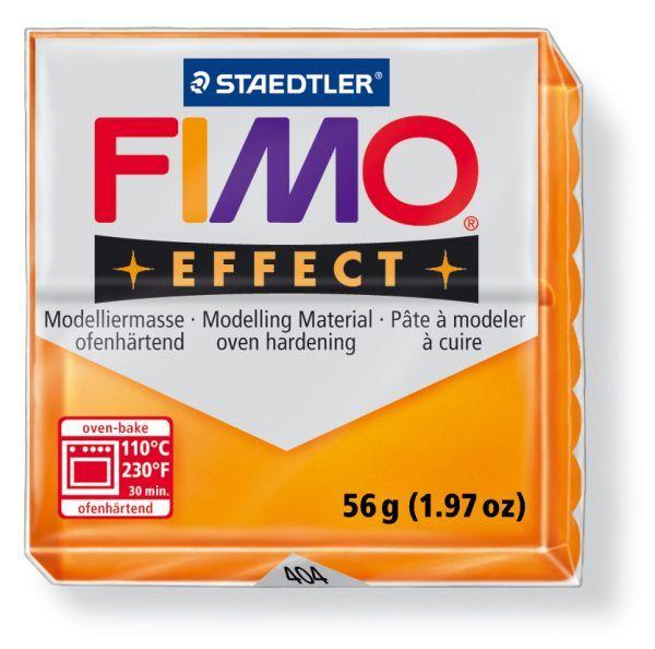 FIMO Effect 56g blok - transparentní oranžová (efekt) Staedtler