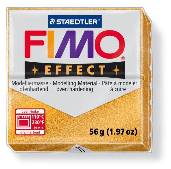 FIMO Effect 56g blok - Zlatá (efekt) Staedtler