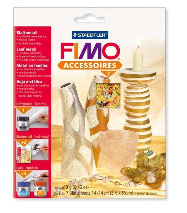 FIMO kovové plátky vícebarevný (multicolor) Staedtler