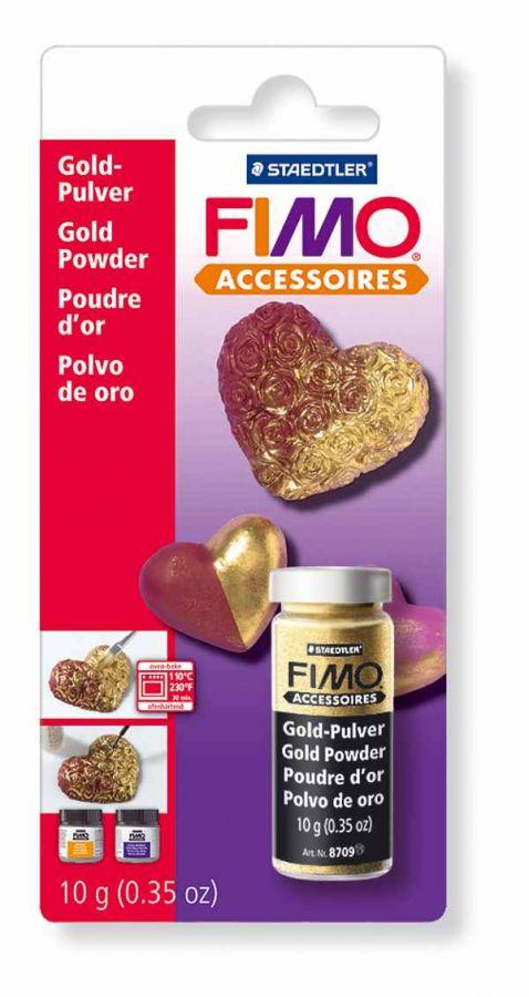 FIMO Metalický prášek - zlatý Staedtler