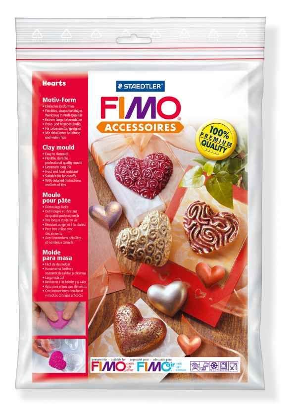 FIMO Silikonová forma Hearts (Srdce) Staedtler