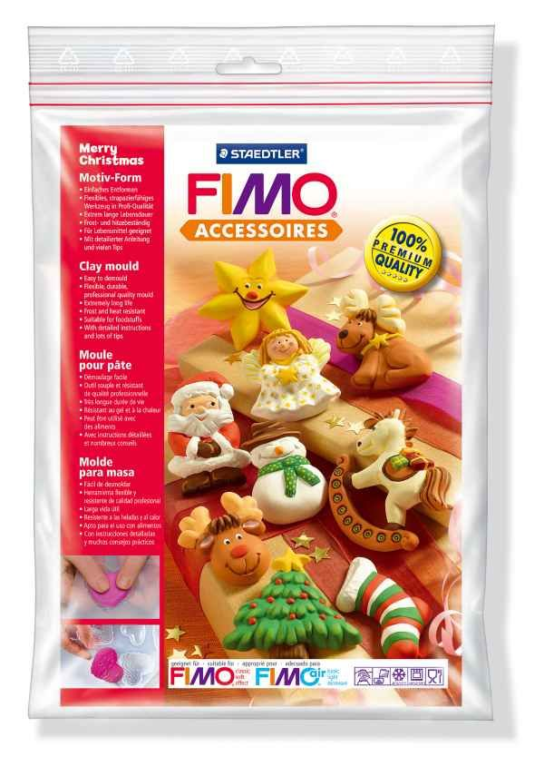 FIMO Silikonová forma Merry Christmas - veselé vánoce (vánoční dekorace) Staedtler