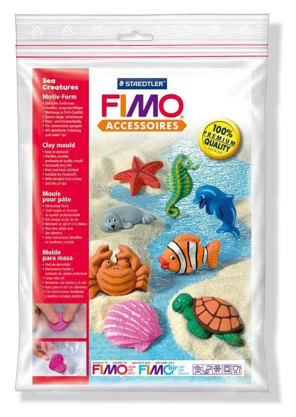 FIMO Silikonová forma Sea creatures (Mořští živočichové) Staedtler