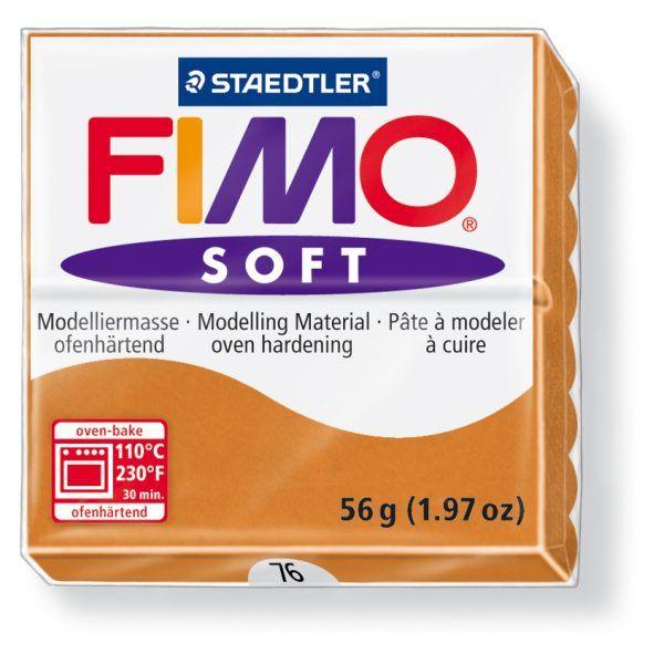 FIMO Soft 56g blok karamelová (Koňakově hnědá) Staedtler