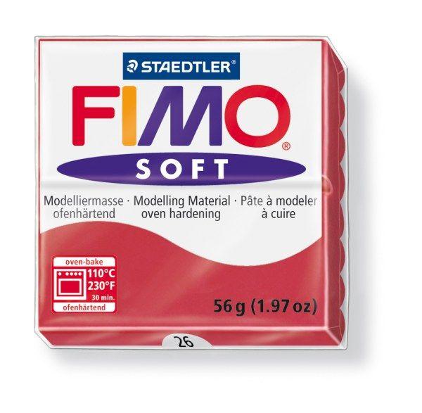 FIMO Soft 56g blok tmavě červená (Cherry) Staedtler