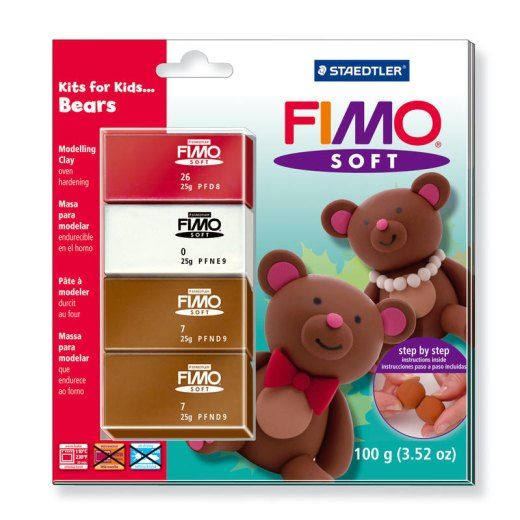 FIMO Soft sada pro děti Bears Staedtler