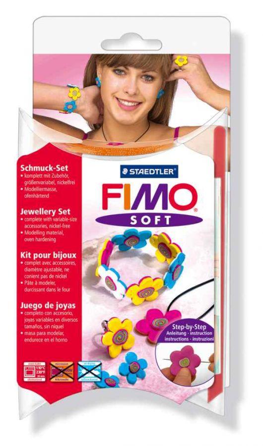 FIMO Soft šperková sada Flowers Staedtler
