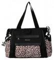 Přebalovací taška Nola Black/Safari Cheetah Kalencom