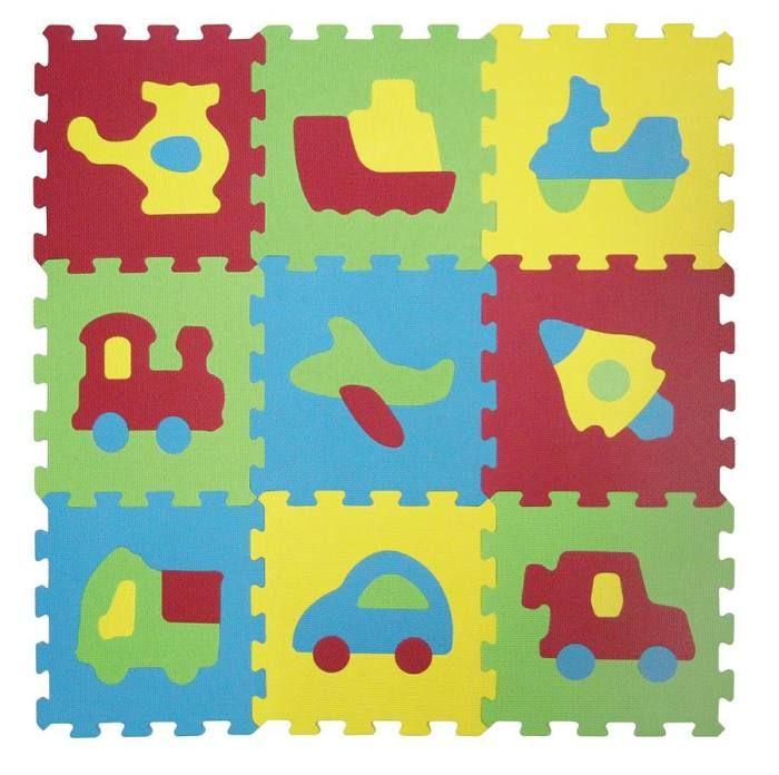 Puzzle pěnové 84x84 cm dopravní prostředky Ludi