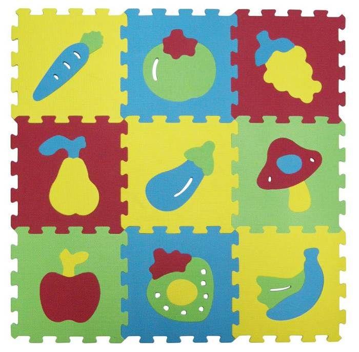 Puzzle pěnové 84x84 cm ovoce a zelenina Ludi