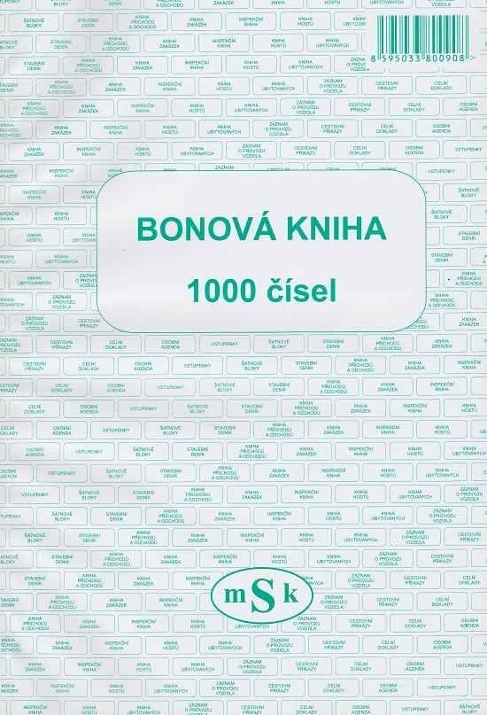 Bonová kniha 1000 čísel