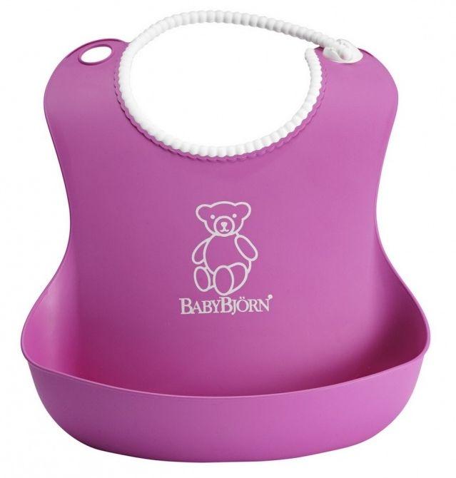 Bryndák měkký BabyBjörn Soft Bib Pink bez PVC růžový