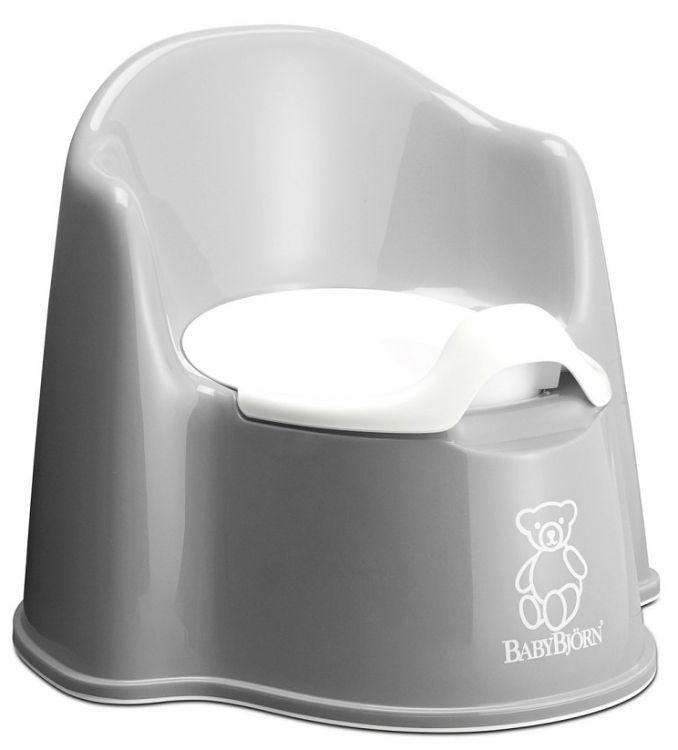 Nočník křesílko BabyBjörn Potty Chair Gray šedý
