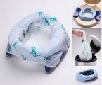 Potette Plus 2v1 - cestovní nočník / skládací redukce na WC - modrý