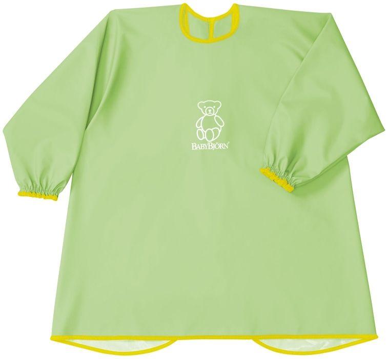 Zástěrka na krmení a hraní BabyBjörn Smock Green zelená