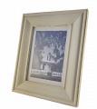 Dřevěný patinovaný fotorámeček 15 x 20 cm - bílý