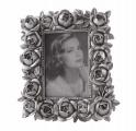 Fotorámeček růžičky 6,5 x 9 cm - stříbrný