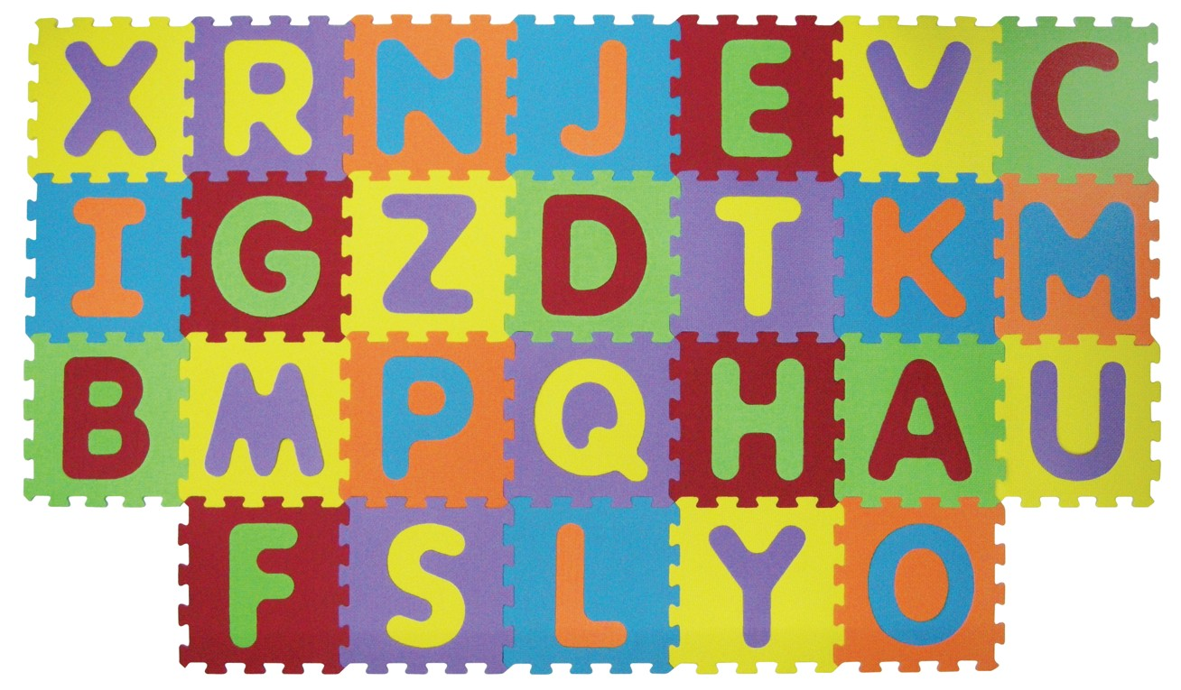 Puzzle pěnové 199x115 cm písmena Ludi