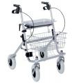 Skládací pojízdné čtyřkolové invalidní chodítko Rollator - PŮJČENÍ