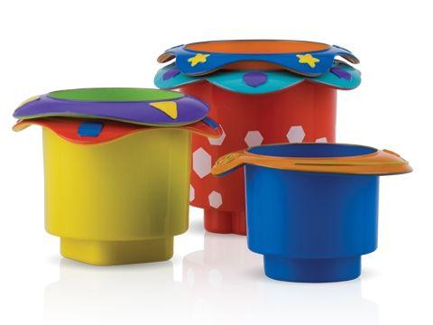 Stohovací kelímky Nuby Splish Splash Stacking Cups