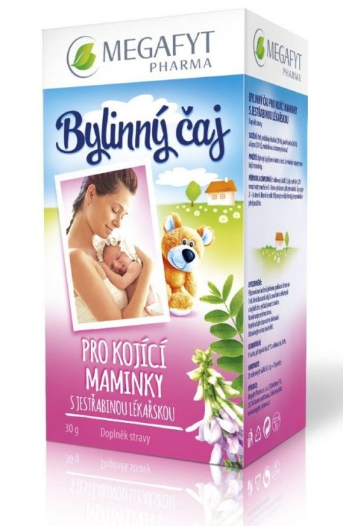 Bylinný čaj pro kojící maminky s jestřabinou Megafyt 20 x 1,5 g