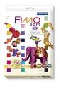 Kreativní sada Fimo Soft sada 24 barev Retro + 4 vykrajovátka