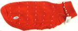 Psí obleček - svetr Missy s perličkami červený Camon