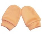 Rukavičky bavlněné novorozenecké - oranžové