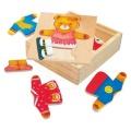 Šatní skříň Medvědice Berta puzzle Bino 88048