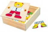 Šatní skříň Medvídek Willi puzzle Bino 88047