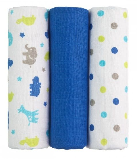 Tetra pleny s potiskem 70x70cm - Blue Giraffes - modré žirafy T-Tomi