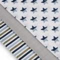 Tetra pleny s potiskem 70x70cm - Blue Stars - Modré hvězdičky T-Tomi