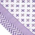 Tetra pleny s potiskem 70x70cm - Lilac Roofs - Fialové stříšky T-Tomi