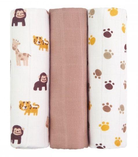 Tetra pleny s potiskem 70x70cm - Monkies - opice T-Tomi